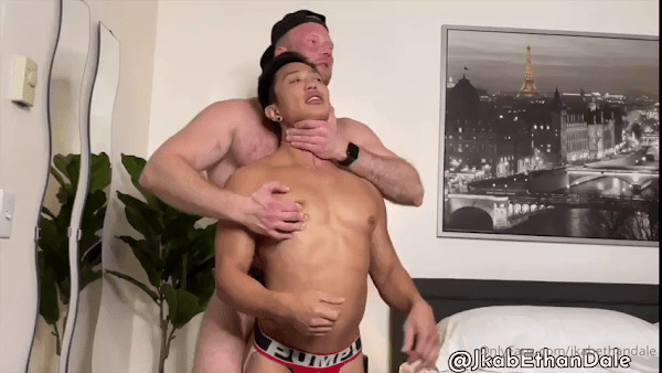 Hairy Teddy's Hard Fuck Makes Asian Dale Cums Like Never End