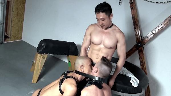 Asian slavemaster And His Two Slaves at Suck Jerk Cock Tube